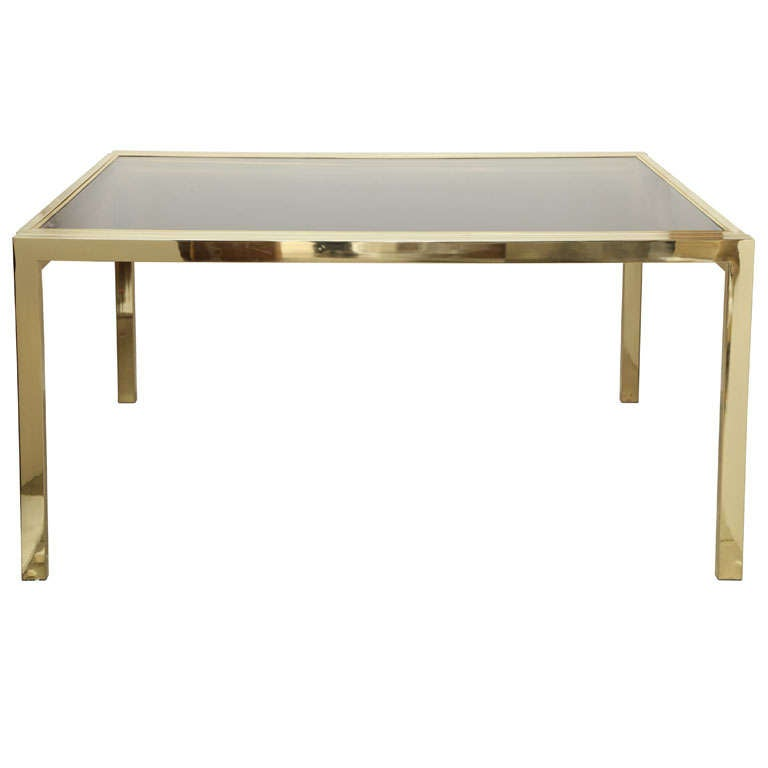 Minimalist Brass Extending Dining Table by DIA at 1stdibs : x from www.1stdibs.com size 768 x 768 jpeg 17kB