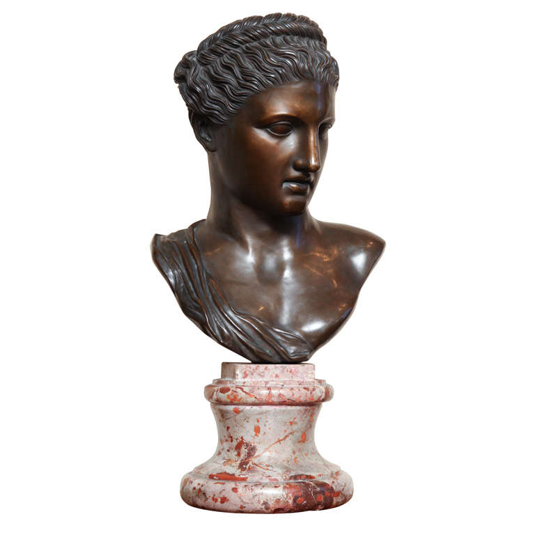 19th century Neo-classical Bronze Bust