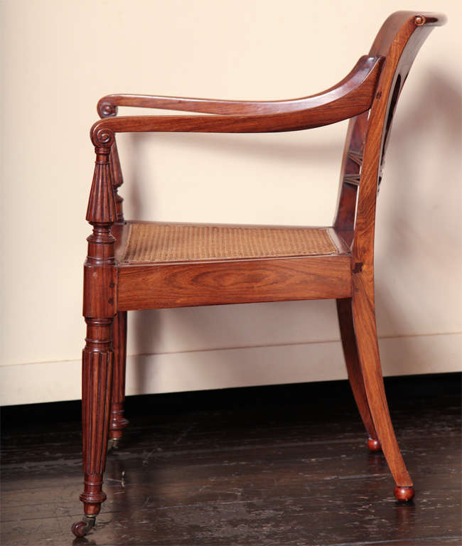 A 19th century Set of Six Side Plus Two Armchairs For Sale 2