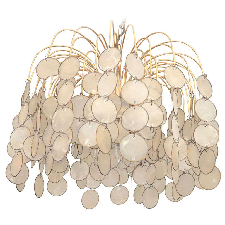 Capiz Shell Waterfall Chandelier At 1stdibs