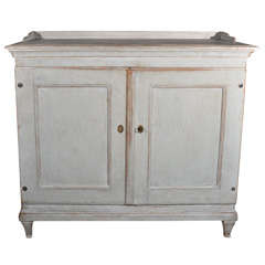 Swedish Gustavian Painted Cabinet