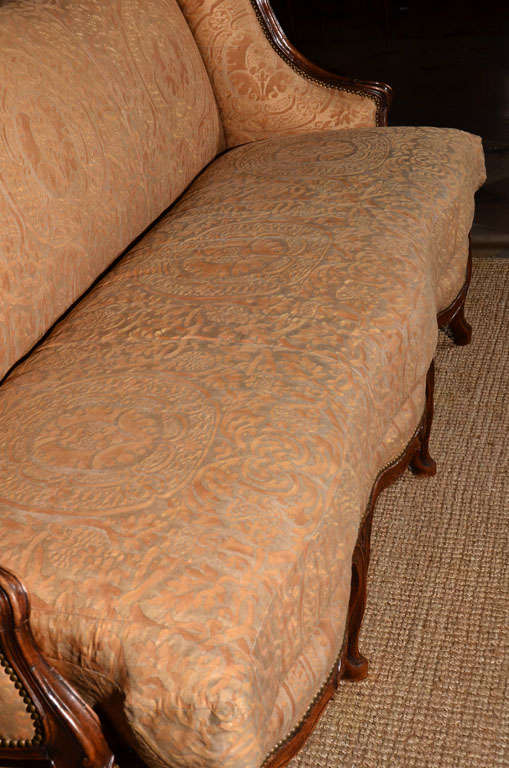 Regence Canape in Vintage Fortuny 6