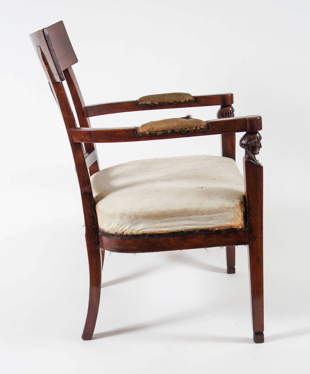 Directoire Neoclassical Consulate Fauteuil or Armchair, Italy, circa 1800 For Sale