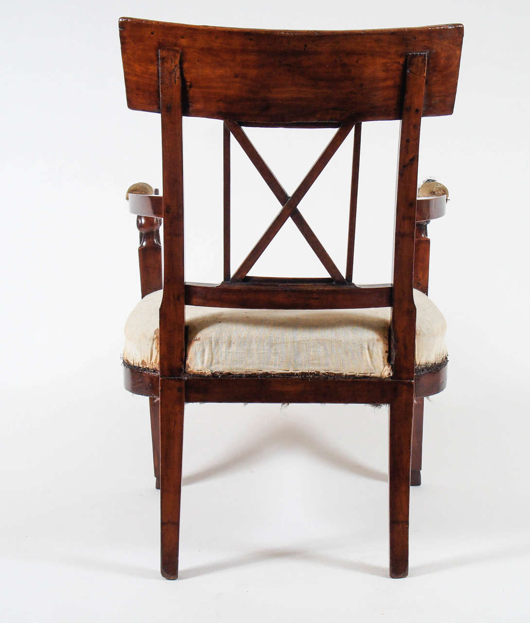Italian Neoclassical Consulate Fauteuil or Armchair, Italy, circa 1800 For Sale