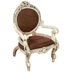 Bone Inlaid Anglo-Indian Armchair