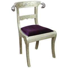 Anglo-Indian Silvered Wrapped Clad Side Chair