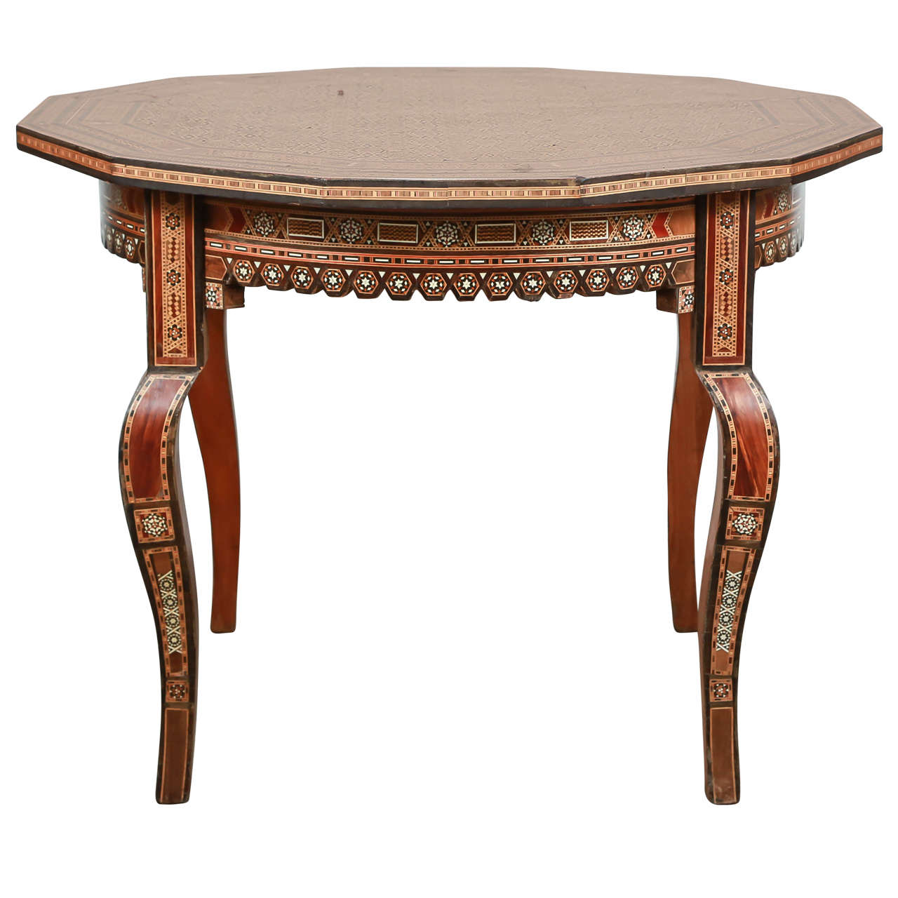 Inlaid Syrian Octagonal Side Coffee Table At 1stdibs
