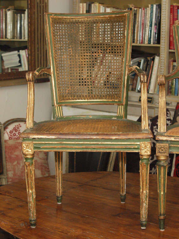 Two Louis XVI Style Side Chairs 3