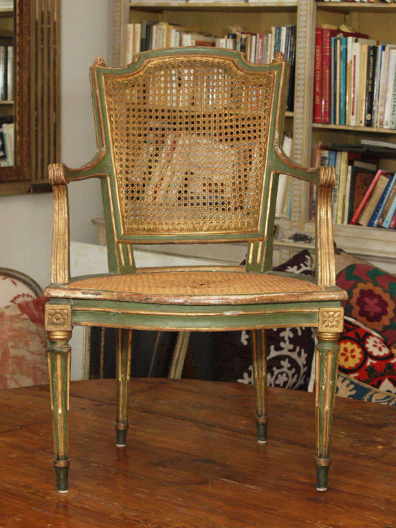 Two Louis XVI Style Side Chairs 8