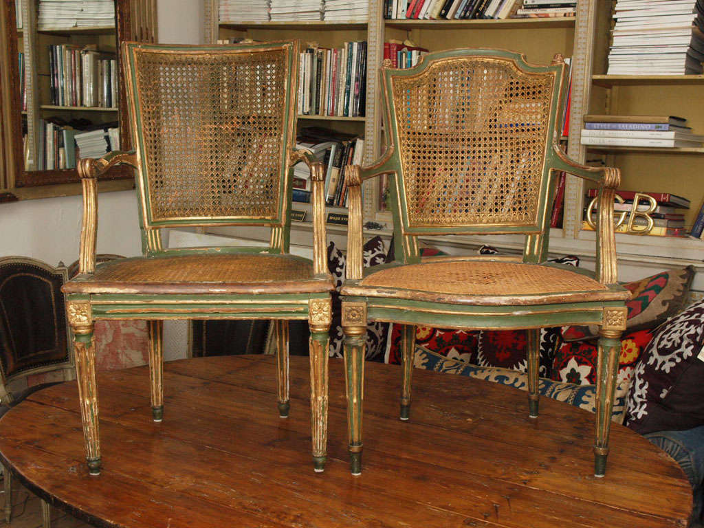 Two Louis XVI Style Side Chairs 2