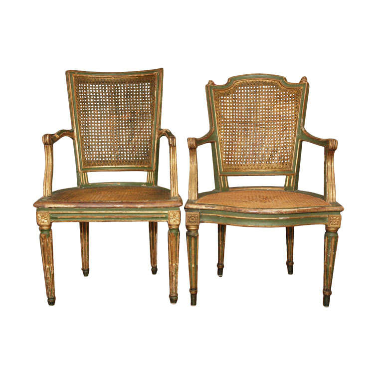 Two Louis XVI Style Side Chairs 1