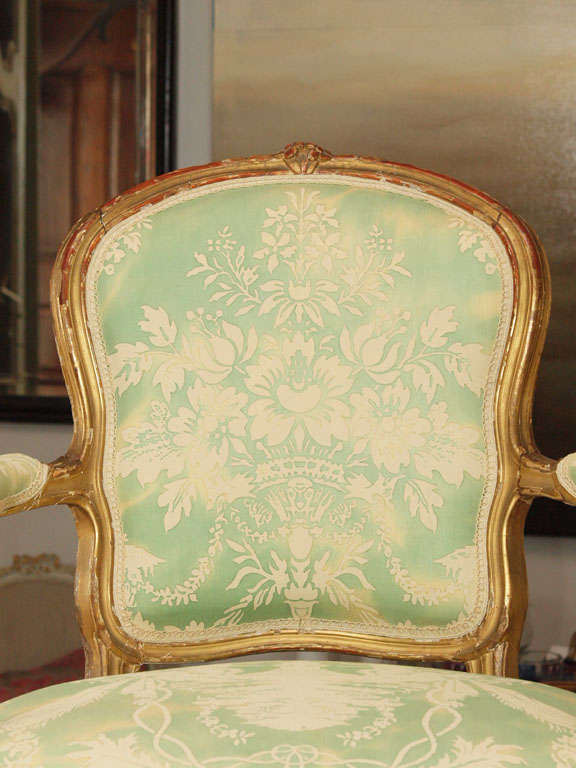 French Louis XV Fauteuil For Sale