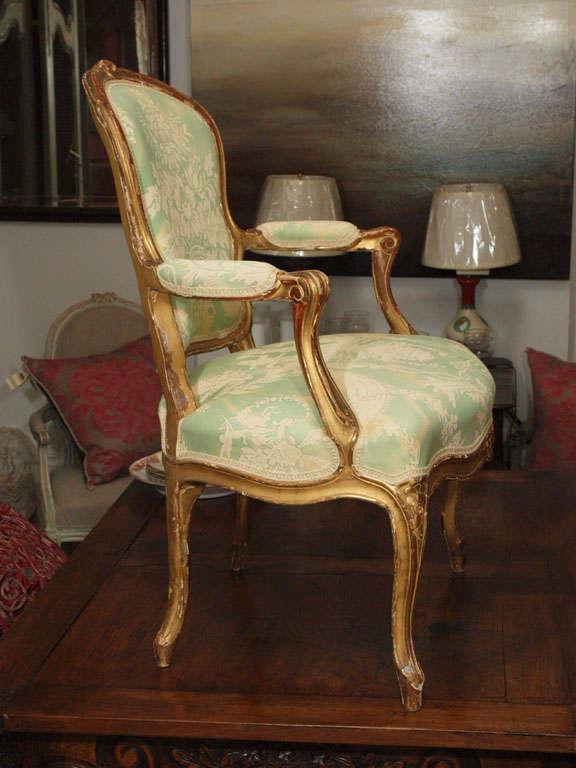 Louis XV Fauteuil For Sale 4