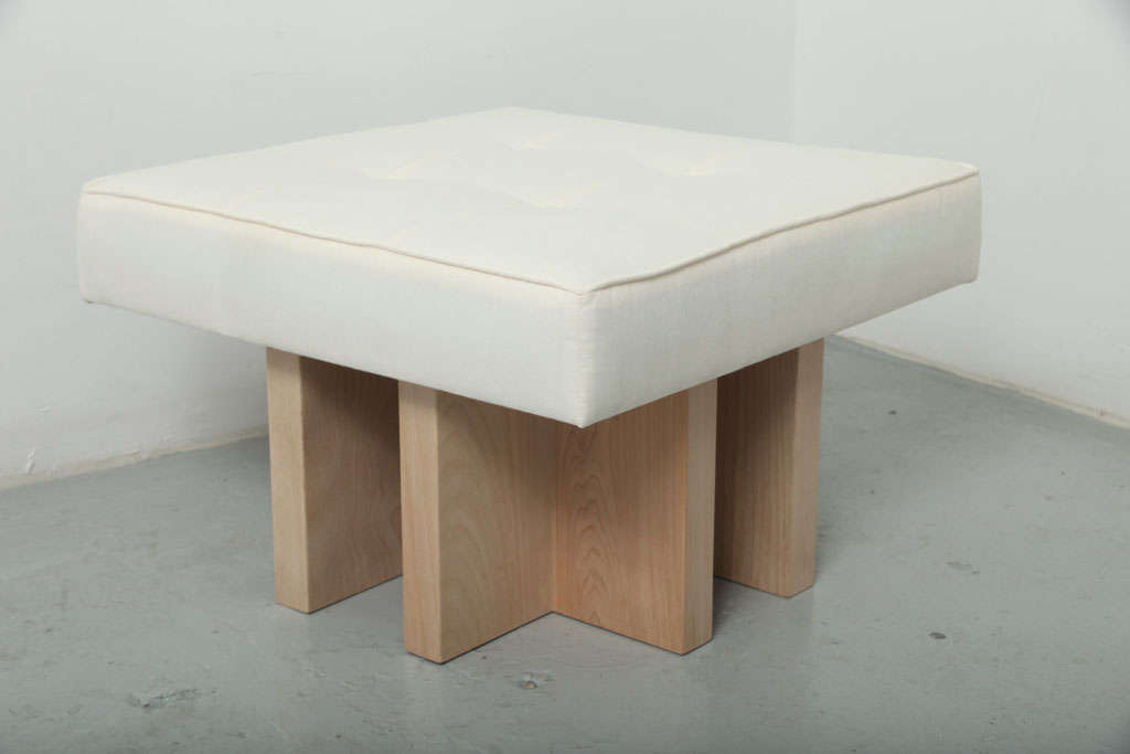 Contemporary Gueridon Handcrafted Made to Order Ottoman For Sale