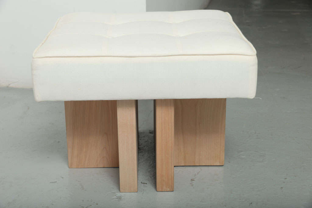 Gueridon Handcrafted Made to Order Ottoman For Sale 1