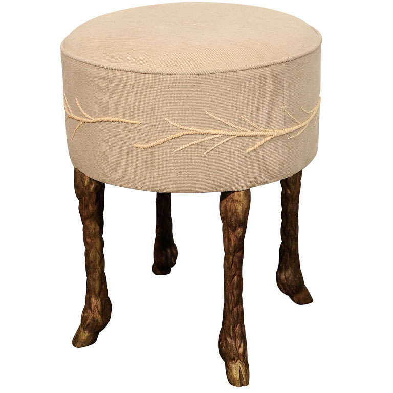 Quot Pieds De Bouc Quot Stool By Marc Bankowsky With Embroidery By