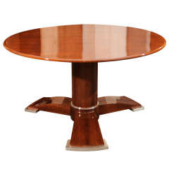 Rare Lacquered Top Coffee Table by Jules Leleu