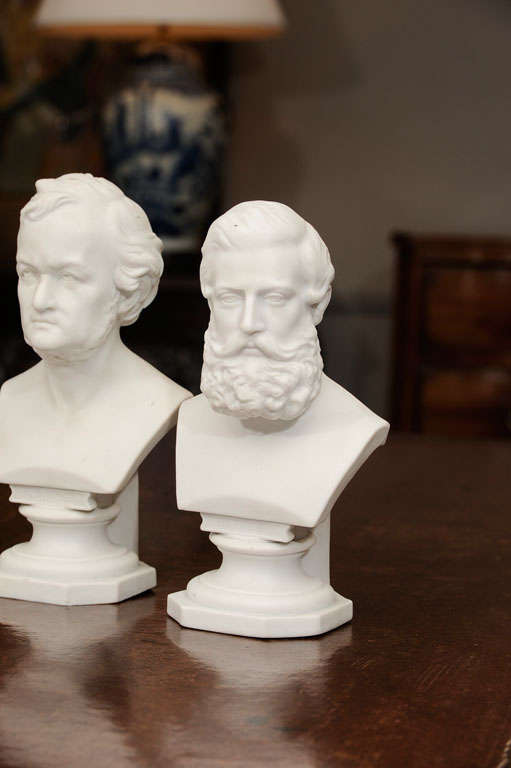 Set of Six Parian Ware Busts of Notable 18th and 19th Century Germans 2