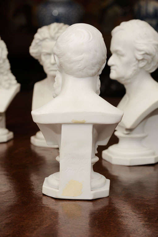 Set of Six Parian Ware Busts of Notable 18th and 19th Century Germans 3