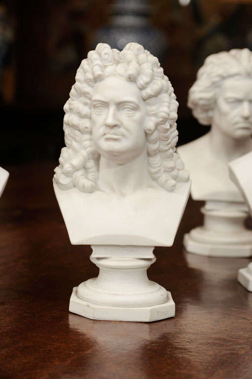 Set of Six Parian Ware Busts of Notable 18th and 19th Century Germans 7