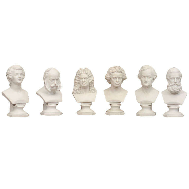 Set of Six Parian Ware Busts of Notable 18th and 19th Century Germans 1