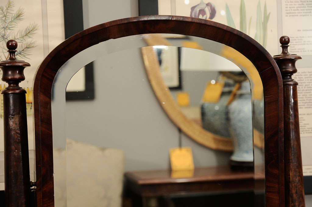 William IV Mahogany Crutch Mirror 5