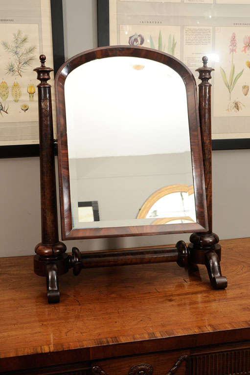 William IV Mahogany Crutch Mirror 10