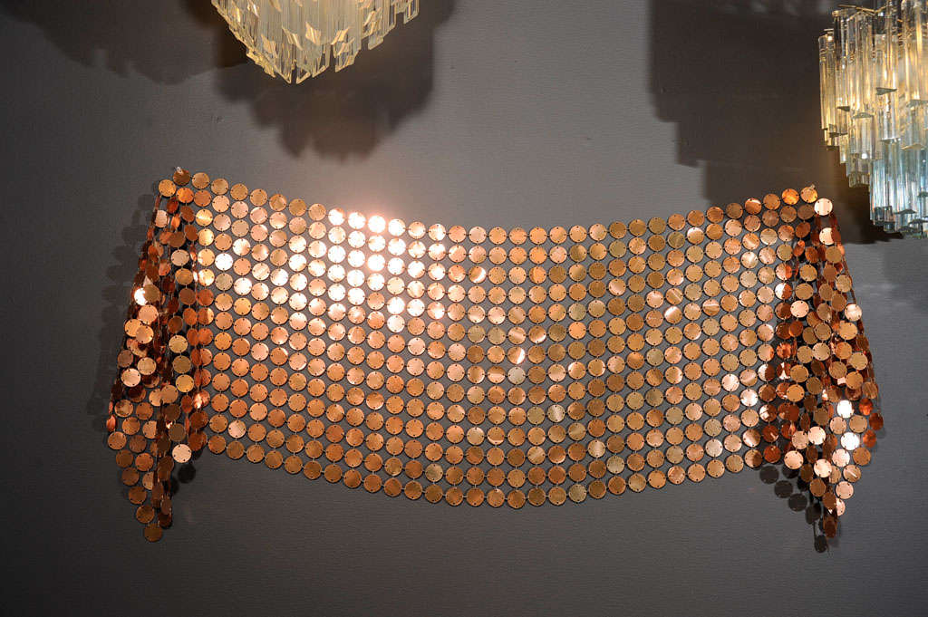 Copper Curtain Wall : Fabulous paco rabanne space curtain panel in copper at stdibs