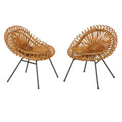 Pair of Corolle Chairs by Janine Abraham and Dirk Rol