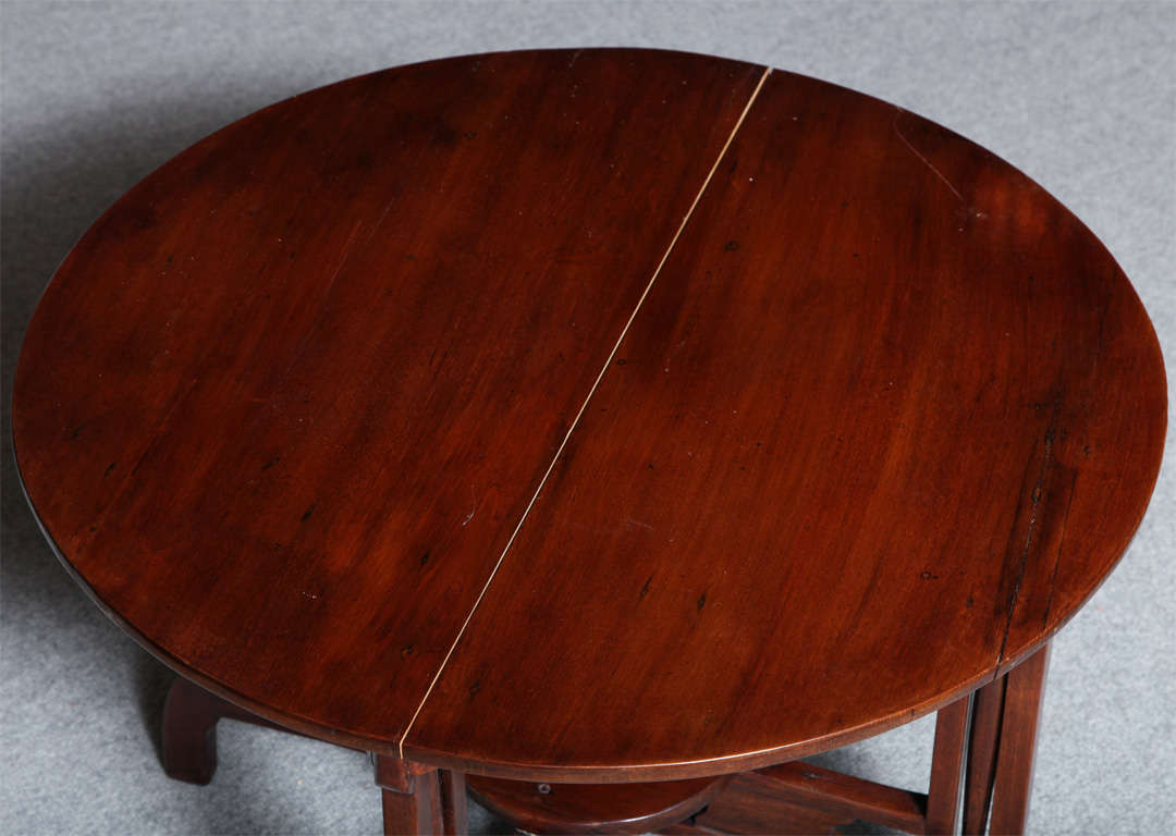 Mid-20th Century 1930s Art Deco Shanghai Coffee Table Made of Varnished Elm with Quadripod Base For Sale