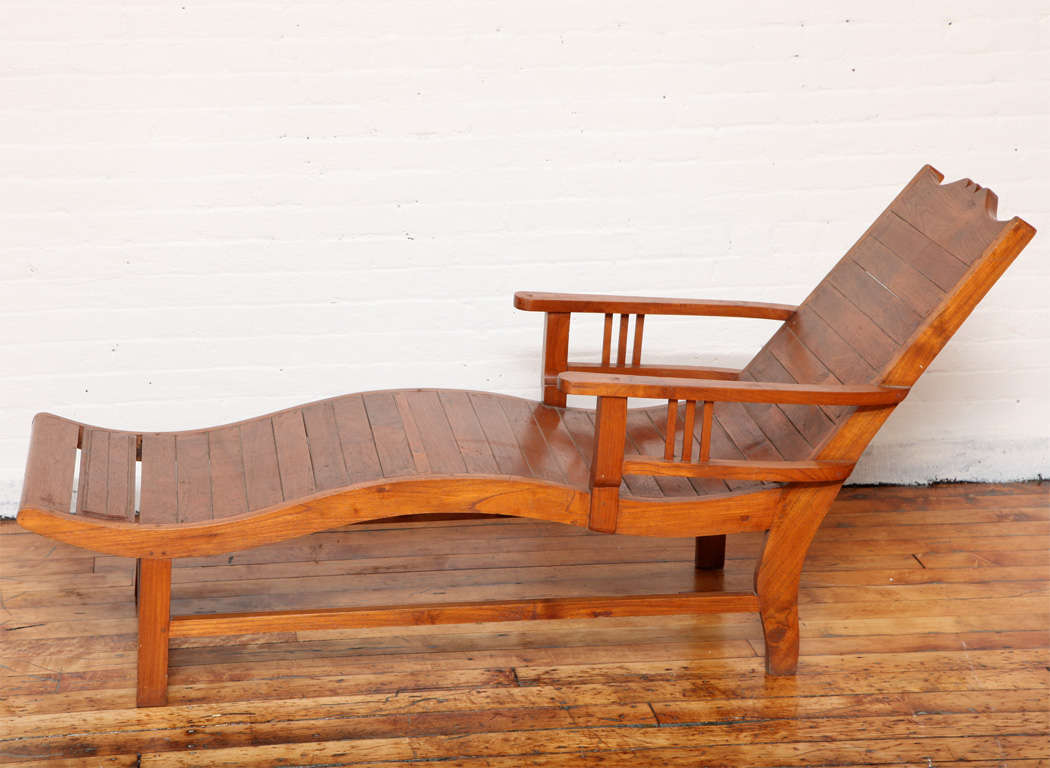 Antique lounge chairs - Vintage Teak Dutch Colonial Influenced Lounge Chair 2