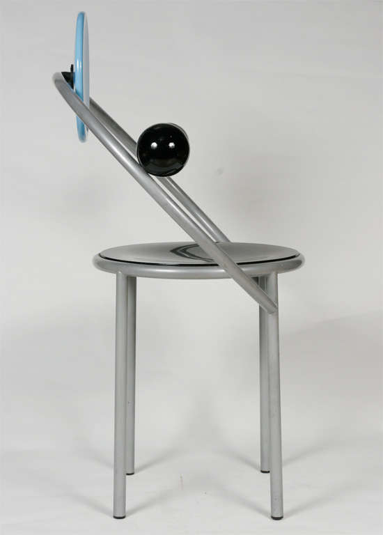 """A """"First""""  Memphis Chair designed by Michele De Lucchi 3"""