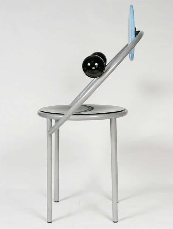 """A """"First""""  Memphis Chair designed by Michele De Lucchi 5"""