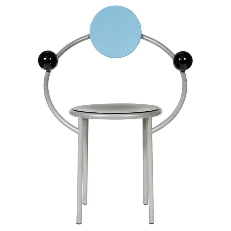"""A """"First""""  Memphis Chair designed by Michele De Lucchi 1"""