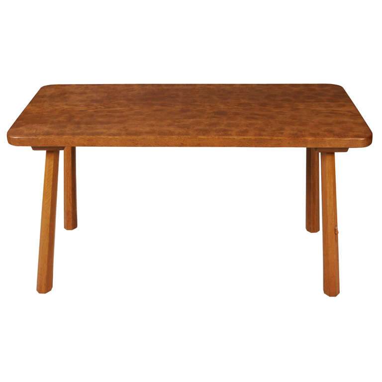 """A Robert """"Mouseman"""" Thompson Oak Table of rustic form at"""