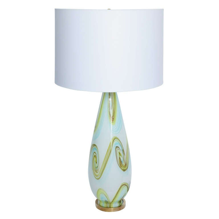 Fratelli Toso Italian Art Glass Table Lamp