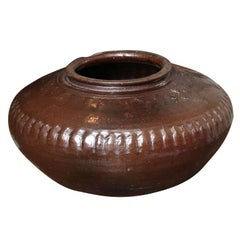 Large Brown Clay Pot