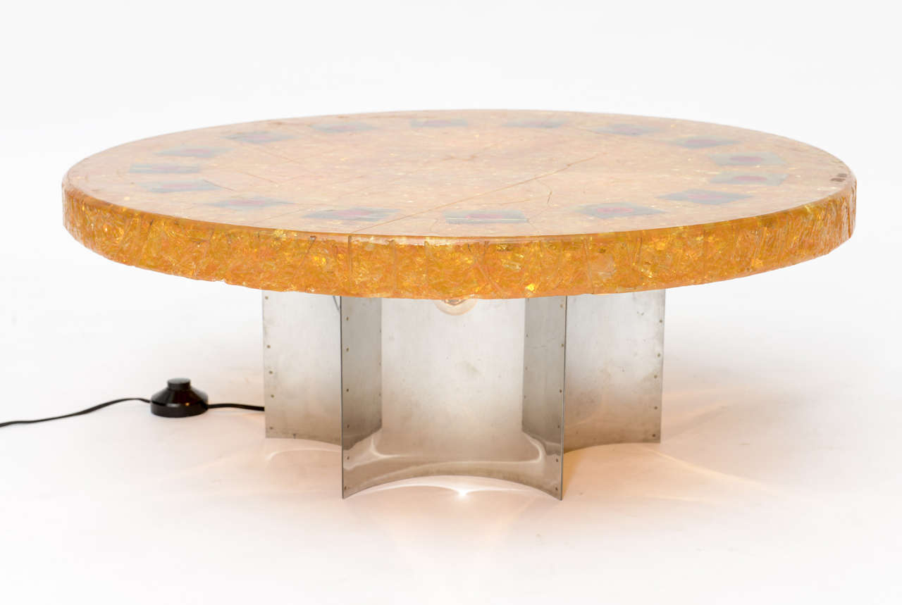 Accolay Fractured Resin Coffee Table For Sale At 1stdibs