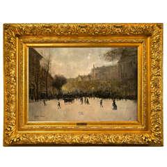 Street Scene by Gaston Veuvenot Leroux