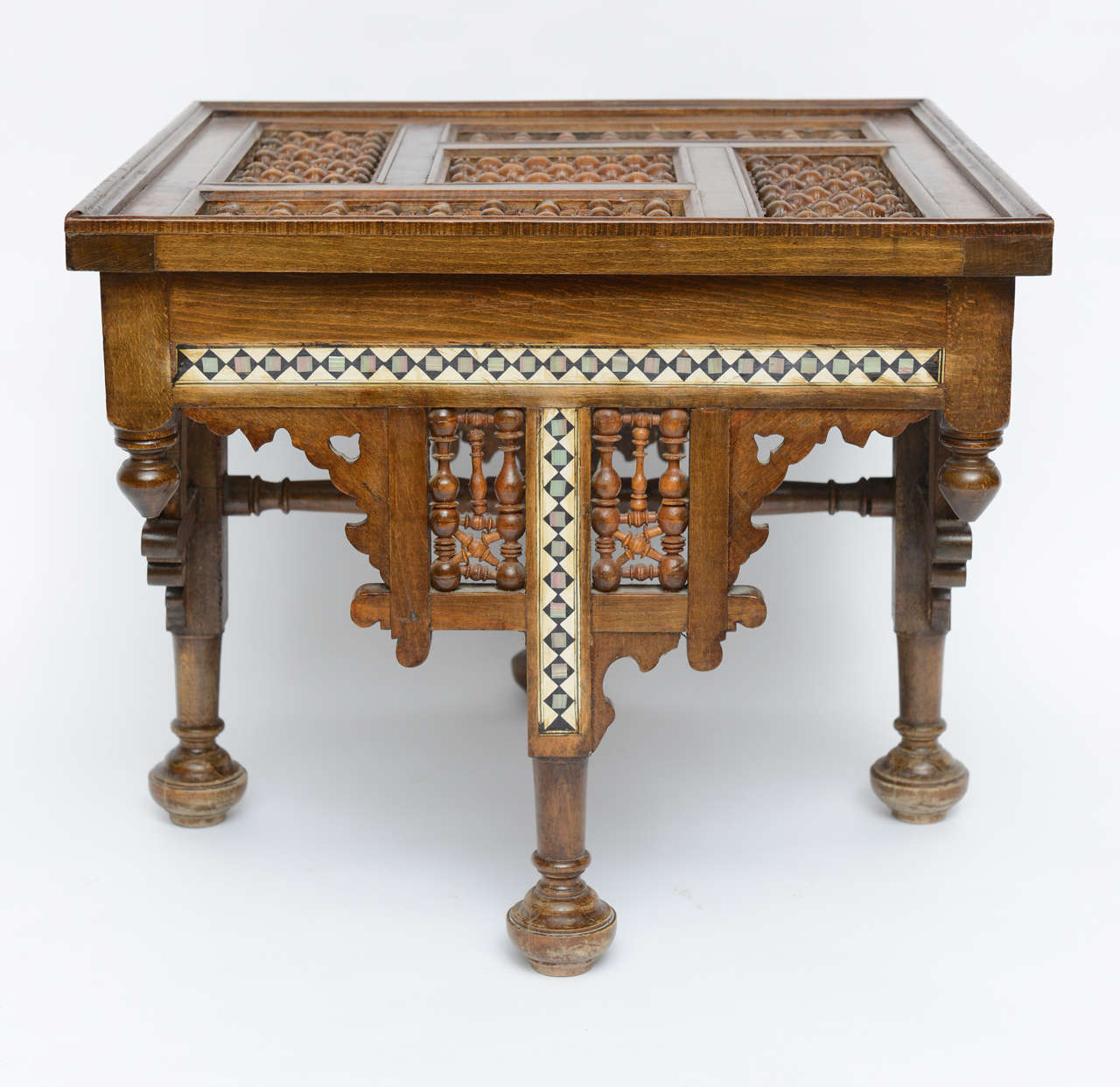 Moroccan Table Inlaid with Bone & Ivory, 19th Century image 2
