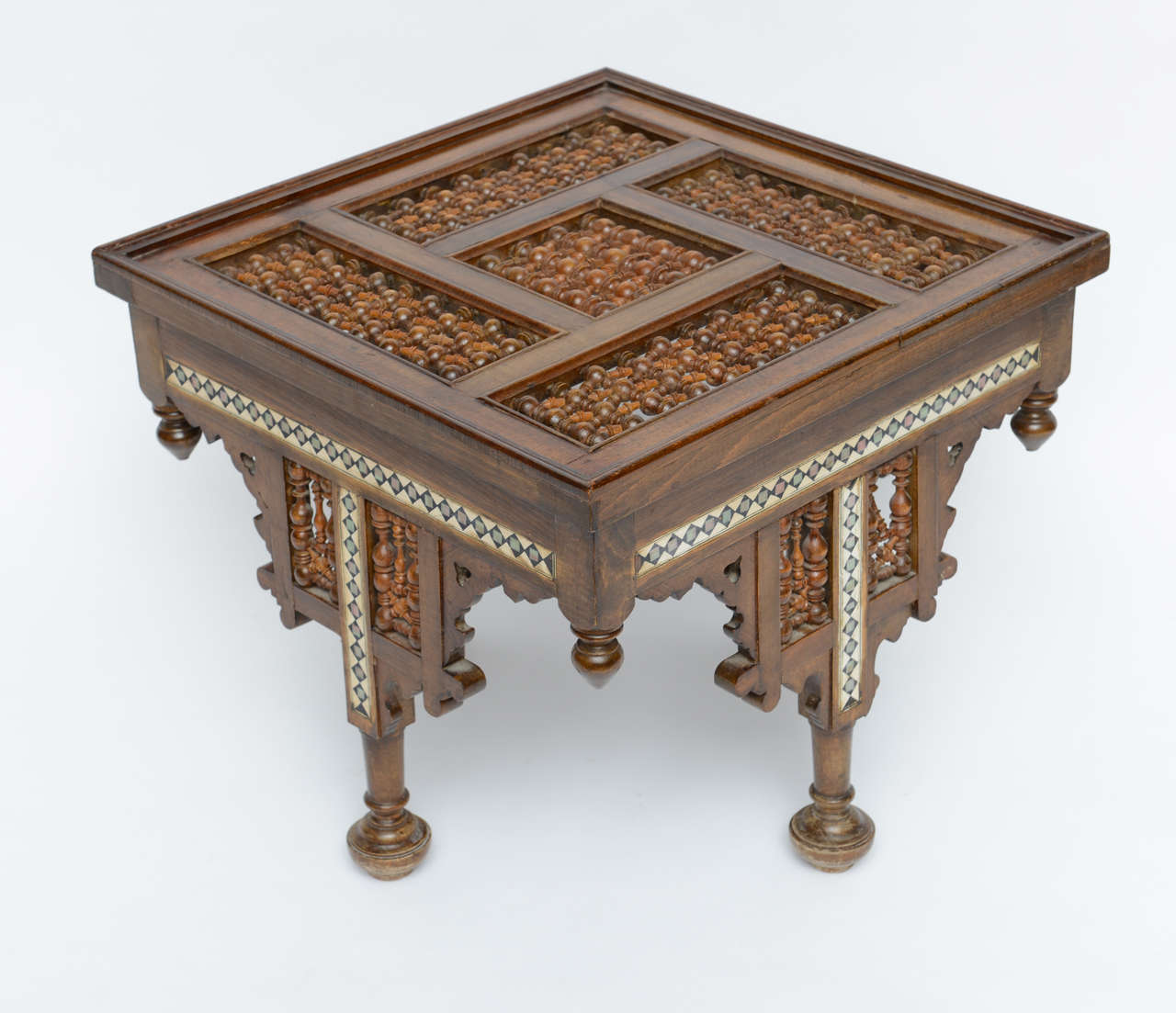 Moroccan Table Inlaid with Bone & Ivory, 19th Century image 4