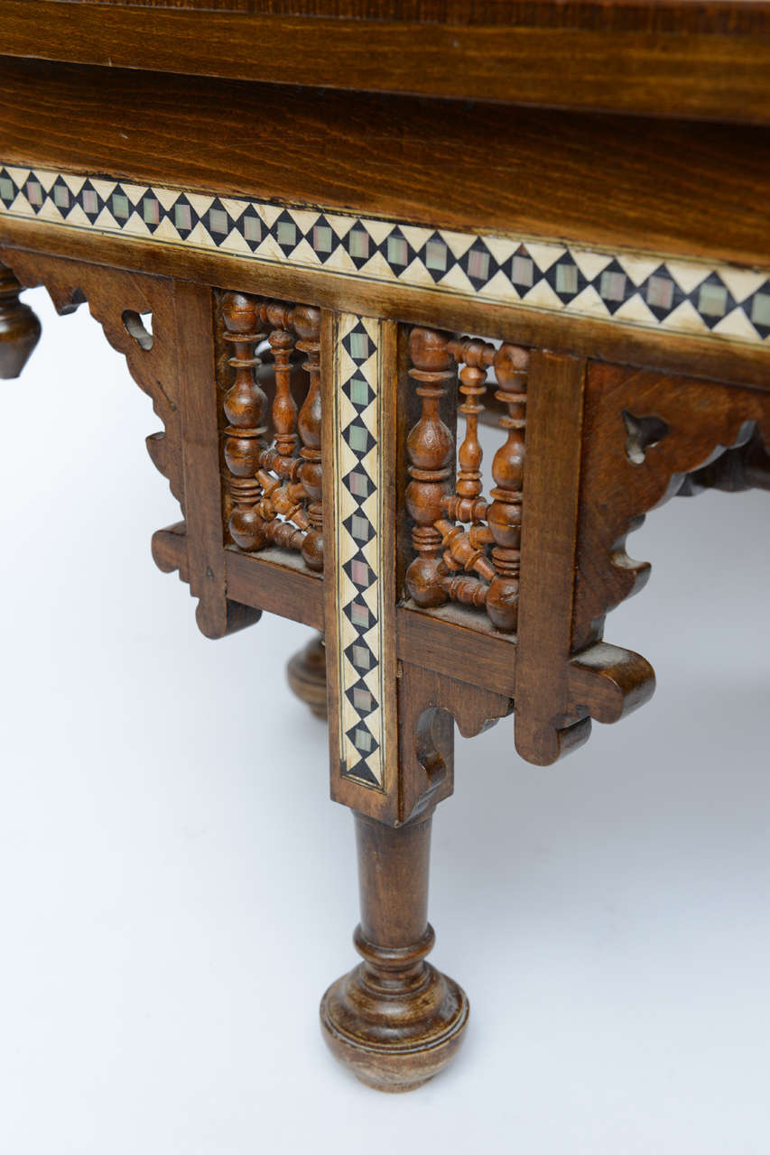 Moroccan Table Inlaid with Bone & Ivory, 19th Century image 6