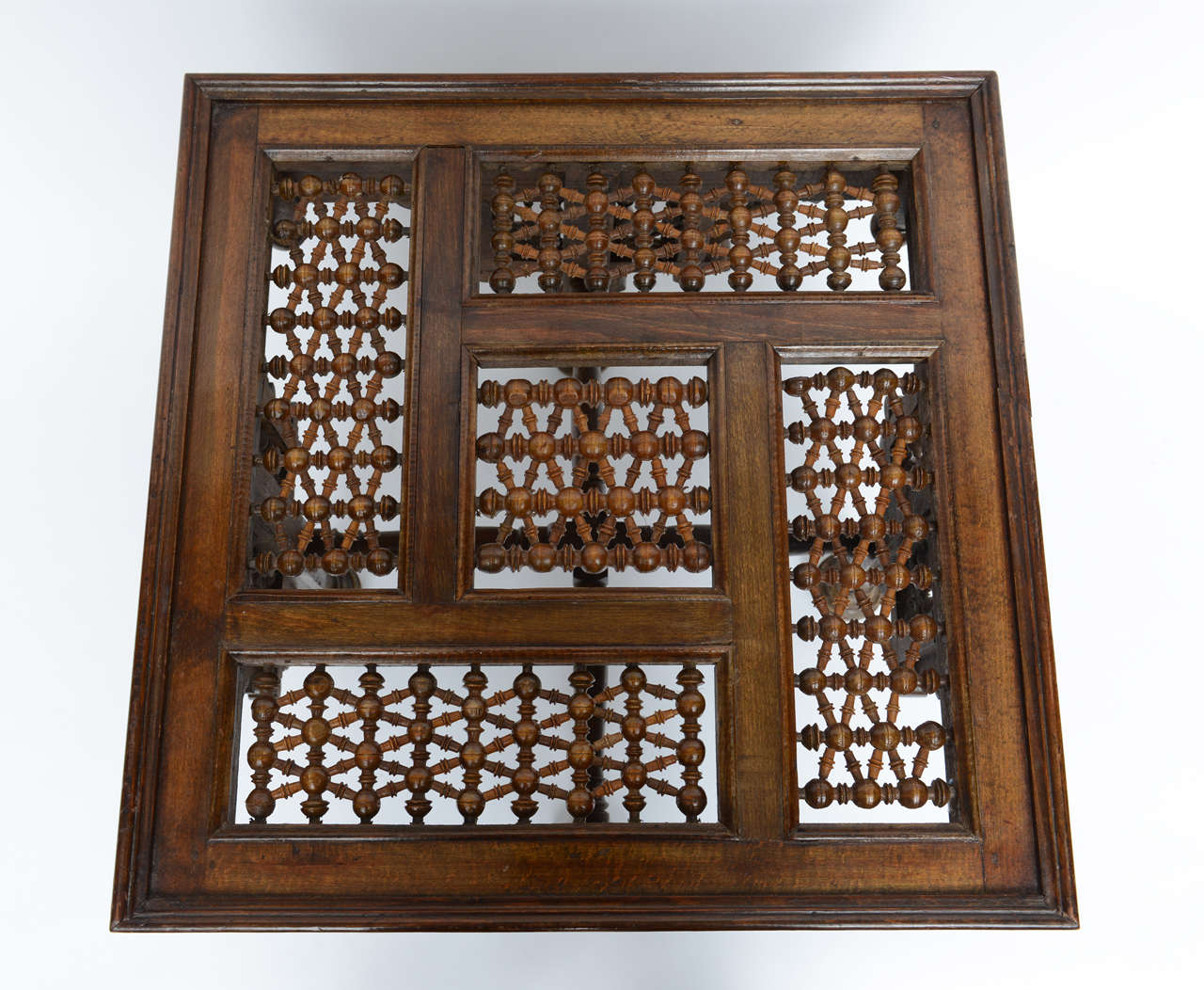 Moroccan Table Inlaid with Bone & Ivory, 19th Century image 7