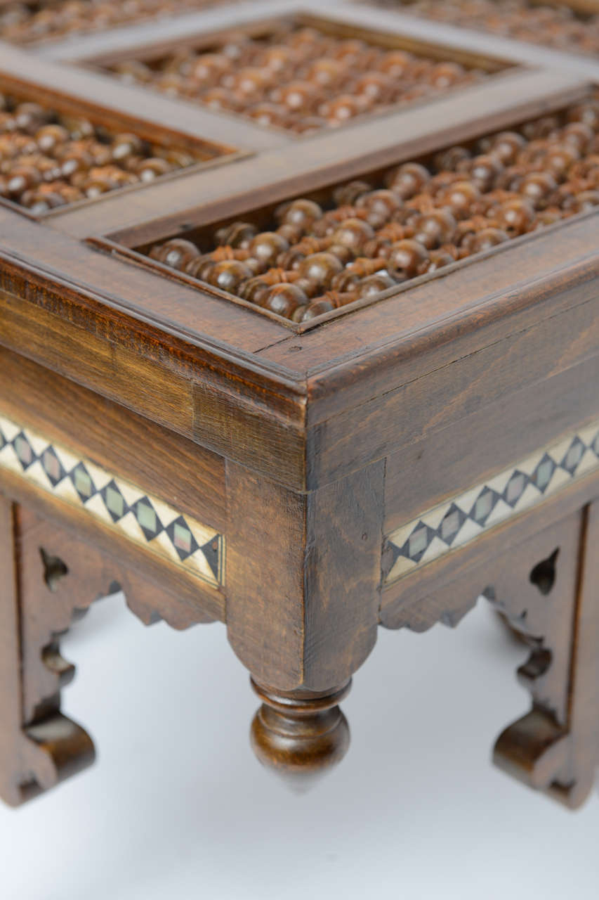 Moroccan Table Inlaid with Bone & Ivory, 19th Century image 9