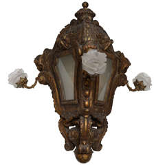 Venetian Lantern, Hand-Carved and Gilded, 19th Century