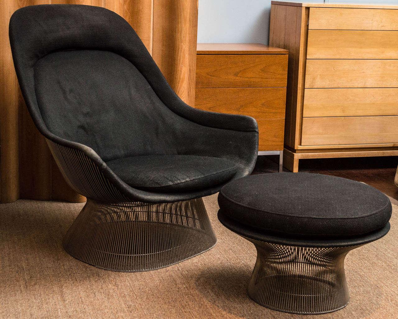 Warren Platner Lounge Chair And Ottoman At 1stdibs