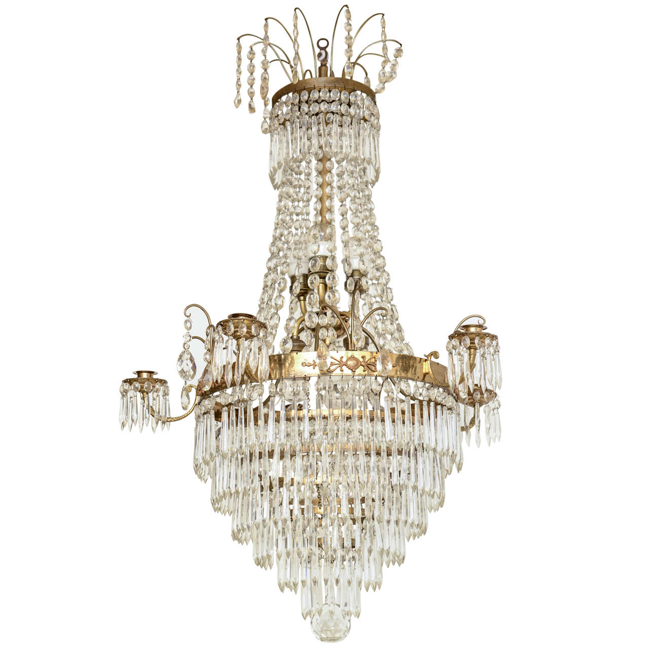 Antique swedish crystal chandelier mid 19th century for sale at 1stdibs antique swedish crystal chandelier mid 19th century for sale aloadofball Image collections