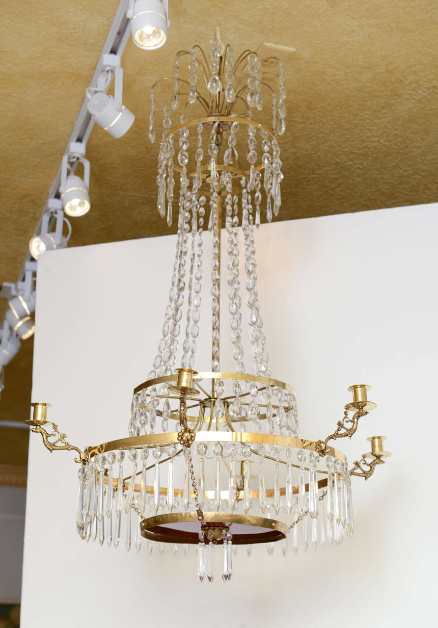 Antique Baltic Crystal Chandelier Early 19th Century For Sale at 1stdibs