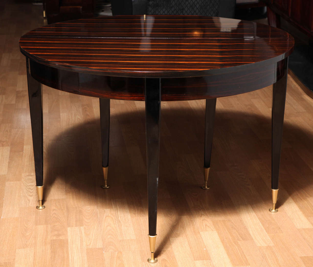 fabulous art deco round expandable dining table 7 art deco dining 7