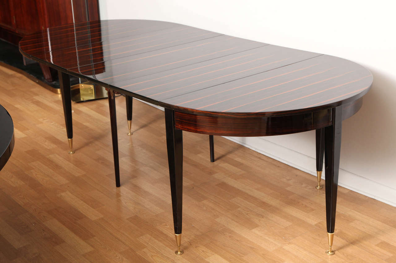 fabulous art deco round expandable dining table at 1stdibs. Black Bedroom Furniture Sets. Home Design Ideas